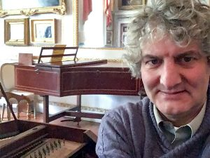 Piano tuner Tim Hendy at the Cobbe Collection, Surrey